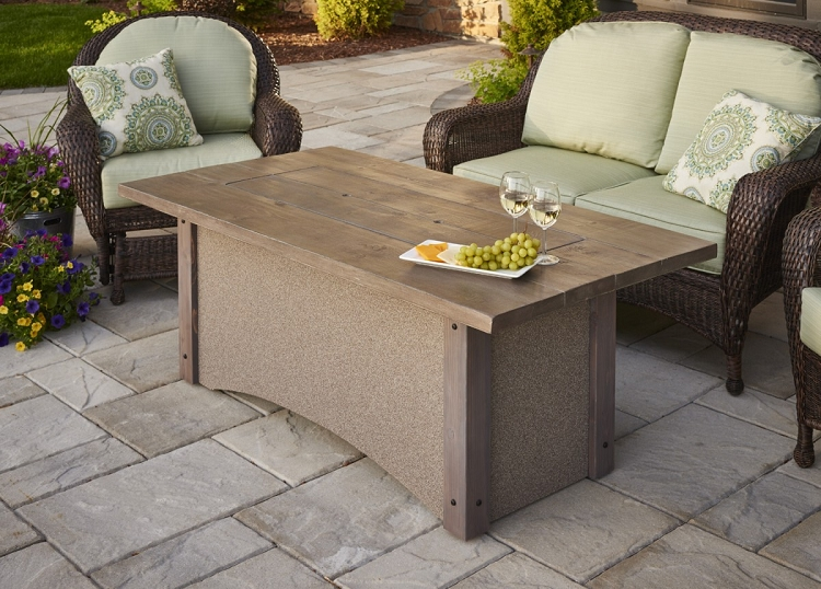 Pine ridge linear fire pit for Great outdoor room company
