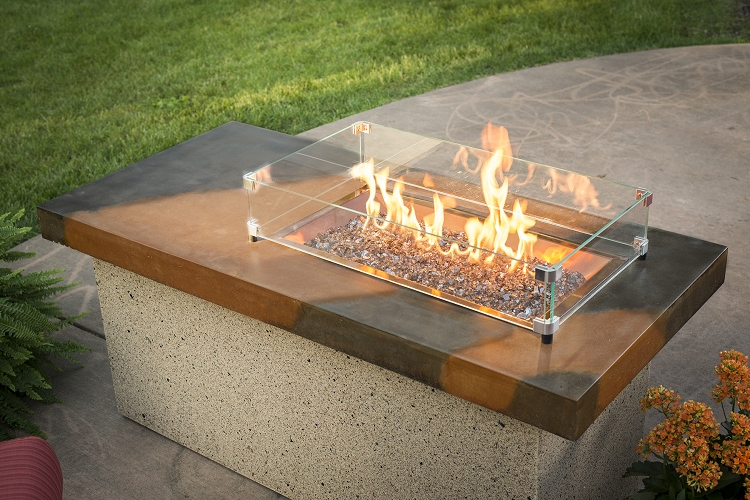 Artisan fire pit table for Great outdoor room company