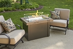 Providence Fire Pit Table - Marbleized Noche Supercast Top
