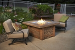 Sierra Fire Table with Square Burner - Mocha Supercast Top
