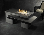 Uptown Fire Table 1224 - Black Granite Top