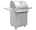 Summerset Sizzler 26 Inch Natural Gas Grill on Cart