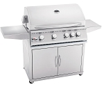 Summerset Sizzler 32 Inch Natural Gas Grill on Cart w/Rotisserie