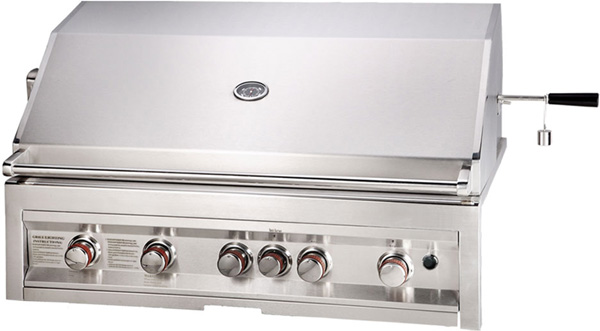 Sunstone 42 Inch Natural Gas Grill with IR Rotisserie