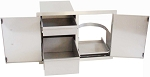 Flush Double Door / Propane Tank Holder & Dual Drawers