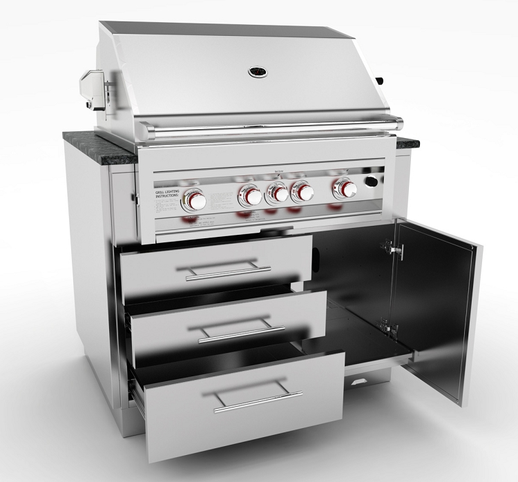Grill Cabinet: Sunstone 40 Inch Gas Grill Base Cabinet
