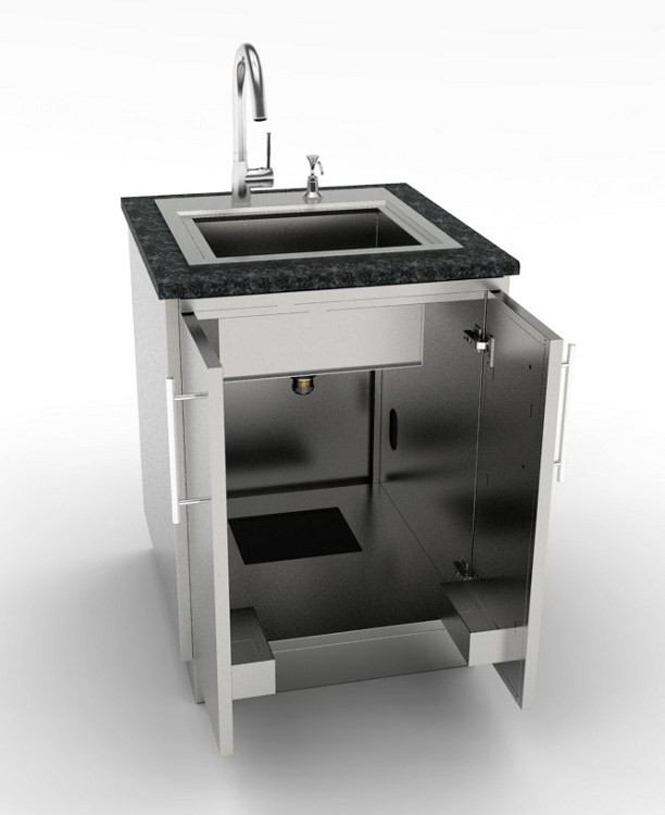 Drop In Laundry Sink For 24 Inch Cabinet : Sunstone 24 Inch Full Double Door Base Cabinet