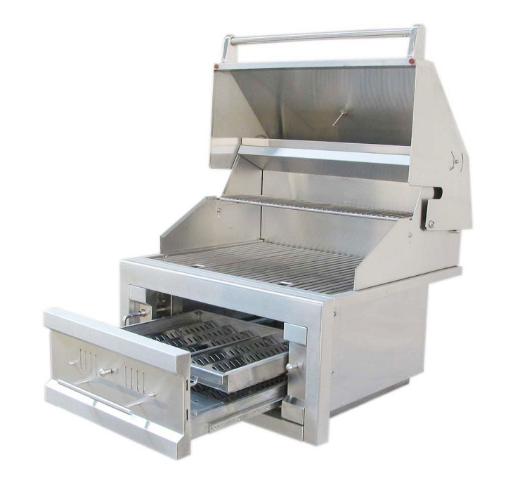 Sunstone 28 Quot Dual Zone 304 Stainless Steel Charcoal Grill