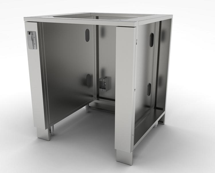 sunstone 30 inch appliance cabinet for up to 21 wide fridge. Black Bedroom Furniture Sets. Home Design Ideas