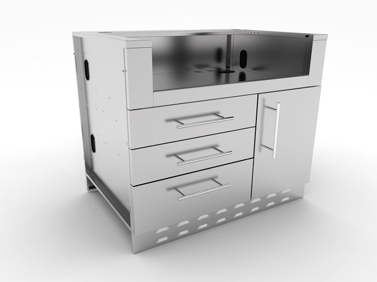 Sunstone 40 inch gas grill base cabinet for 40 inch kitchen cabinets