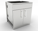 Sunstone 30 Inch Double Door Base Cabinet w/Shelf & False Top Panel