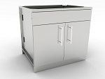 Sunstone 36 Inch Double Door Base Cabinet w/Shelf & False Top Panel
