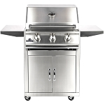 Sure Flame 26 Inch Deluxe 3 Burner Natural Gas Grill - On Cart