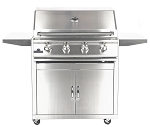 Sure Flame 32 Inch Deluxe 4 Burner Propane Grill - On Cart