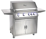 Sure Flame 32 Inch Elite 4 Burner Natural Gas Grill - On Cart
