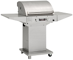 TEC Sterling FR G2000 Natural Gas Grill with 2 Side Shelves on Pedestal