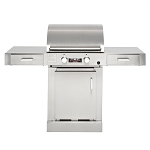 TEC Sterling FR G2000 Propane Countertop Grill on Cabinet