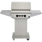 TEC 26 Inch Sterling II Natural Gas Grill on Stainless Steel Pedestal