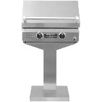 TEC 26 Inch Sterling II Propane Gas Grill on Stainless Steel Bolt Down Post