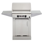 TEC 26 Inch Sterling II Propane Gas Grill on Stainless Steel Cabinet