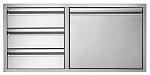 Twin Eagles 36 Inch 3 Drawer Door Combo
