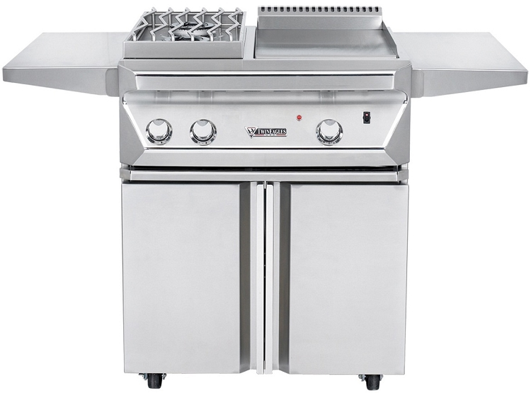 Twin Eagles 30 Inch Propane Breakfast Club Cooktop on Cart