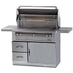 Alfresco 42-inch Grill with Sear Zone on Refrigerated Base - LP