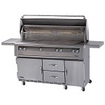 Alfresco 56-inch Standard All Grill on Refrigerated Base - LP
