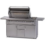 "Alfresco 56"" Deluxe Grill with Sear Zone on Cart - LP"