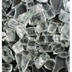 Clear Fire Glass 1/4 Inch - 10 lbs