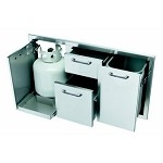 Caliber 41 Inch Double Access Drawer and Propane Tank Storage Combo