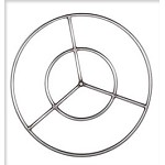 Stainless Steel  Double Fire Ring - 24 Inch