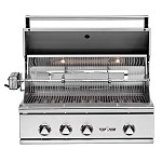 Delta Heat 32 Inch Natural Gas Grill with Infrared Rotisserie and Sear Zone