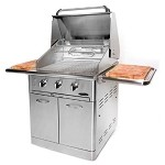Capital Precision Series 30 Inch Natural Gas Grill with Rotisserie - On Cart
