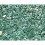 Green Reflective Fire Glass 1/4 Inch - 10 lbs
