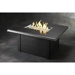Napa Valley Fire Pit Rectangular Table - Absolute Black Wicker Base