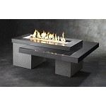 Uptown Black Fire Pit Table w/ CF1242 Burner