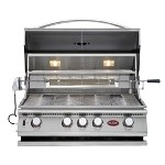 Cal Flame P4 Gas Grill with Lights, Rotisserie and Back Burner