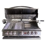 Cal Flame P5 Gas Grill with Lights, Rotisserie and Back Burner