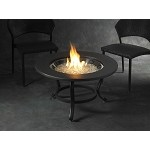 Saturn Fire Pit Table - Tri-Pod Crystal / Cocoa Ring