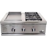 DCS Liberty 30 Inch Propane Grill with Double Side Burner / Griddle Unit