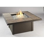 Napa Valley Fire Table - Tan Drop In Porcelain Tiles / Tan Metal Base