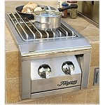 Alfresco 14-inch Propane Dual Side Burner
