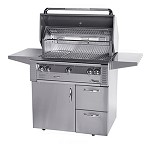 Alfresco 36-inch ALX2 SearZone Propane Grill on Deluxe Cart
