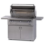 Alfresco 42-inch ALX2 SearZone Propane Grill on Deluxe Cart