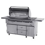 Alfresco 56-inch ALX2 Propane Deluxe Grill on Refrigeration Base
