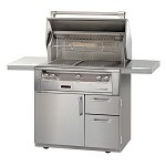 Alfresco LXE Series 36 Inch Sear Zone Grill on Deluxe Cart - NG