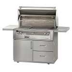 Alfresco LXE Series 42 Inch Sear Zone Grill on Deluxe Cart