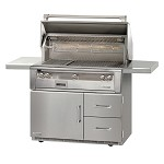 Alfresco LXE Series 42 Inch Sear Zone Grill on Refrigerated Base - LP