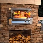 Alfresco 30 Inch Built-In Natural Gas Outdoor Pizza Oven
